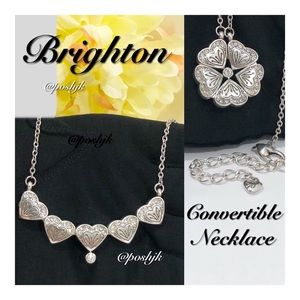 Brighton Necklace Convertible Silver Swarovski